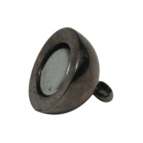 Fermoir magnetique, extra fort ø 10 mm, sans nickel, pièce<br />anthracite