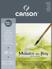 CANSON Papier aquarelle Moulin du Roy, satin&eacute;, 240x320 mm<br />pack