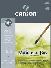 CANSON Papier aquarelle Moulin du Roy, satiné, 240x320 mm<br />pack