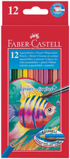 FABER-CASTELL crayons de couleur KINDER-AQUARELL, 12 étuis<br />bte.
