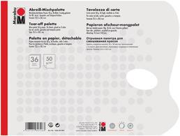 Marabu -Palette, Papier 36 feuilles, 50 g<br />set