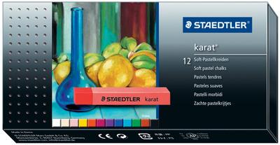 STAEDTLER craies pastels tendres karat, &eacute;tui en carton de 12<br />bte.