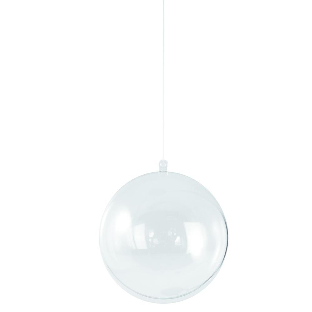 Boule en plastique, <br />2 parties, 4 cm ø