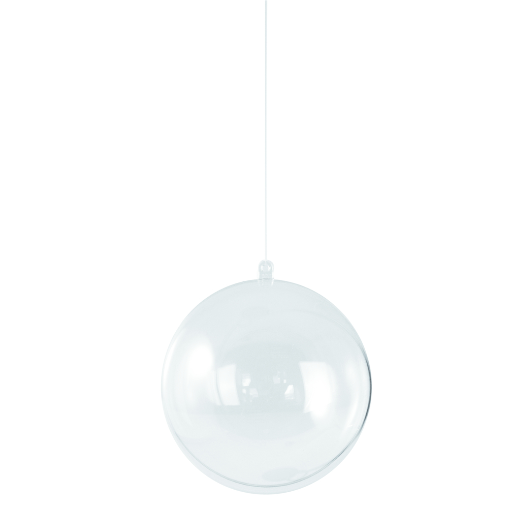 Boule en plastique<br />2 parties, 8 cm ø