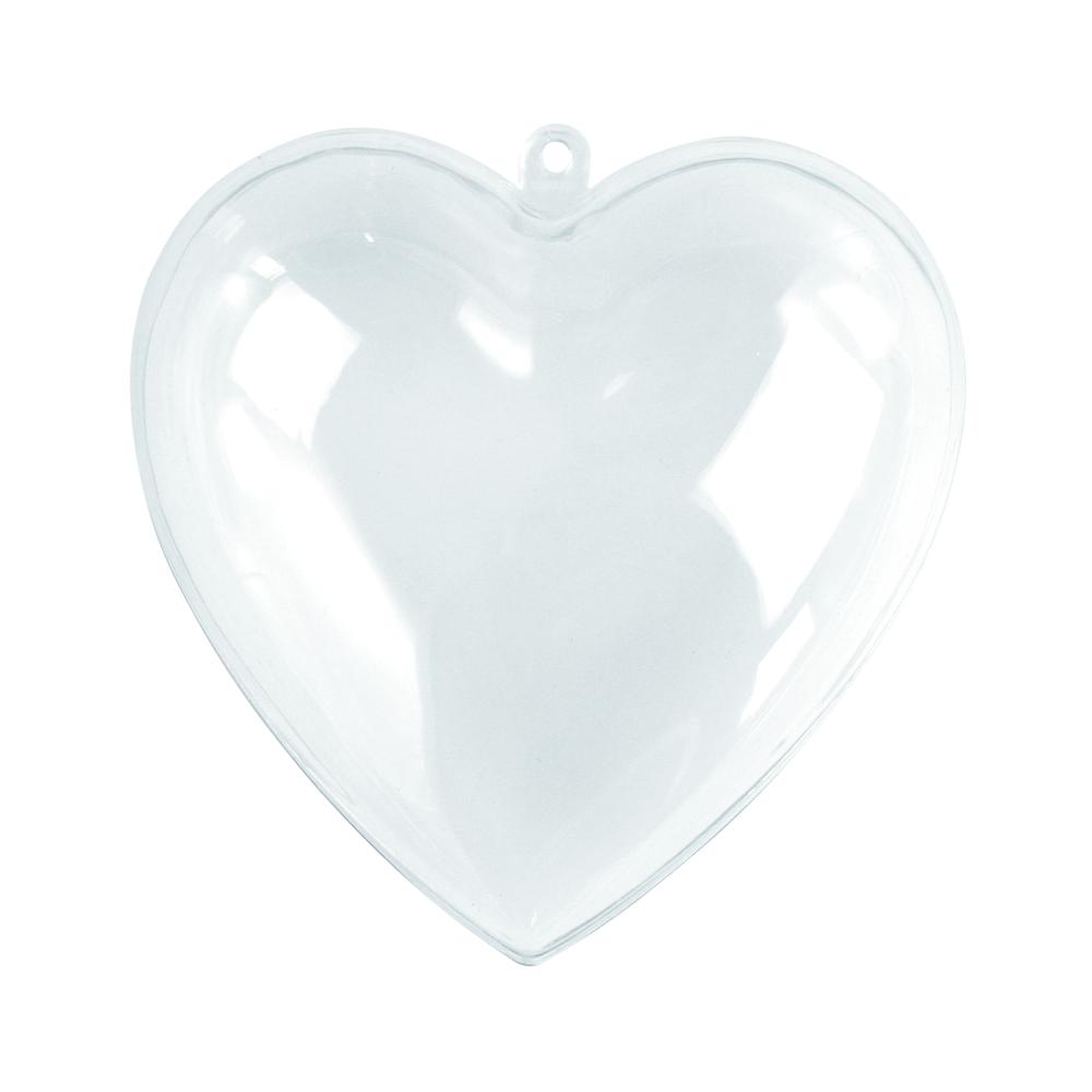Coeur en plastique<br />2 parties, 10 cm