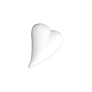 Coeur en polystyrene, forme de goutte 12x8,5 cm