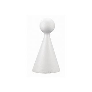 Cône figurine en polystyrene 15 cm