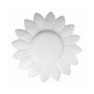 Tournesol en polystyrene, plat 15 cm