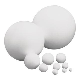 Boule en polystyrene 18 cm, 2 parties