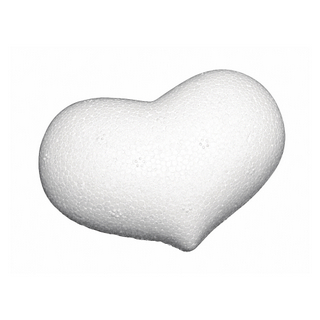 Coeur en polystyrene, bombe 7x5 cm, plat