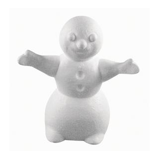 Bonhomme de neige en polystyrene 17 cm