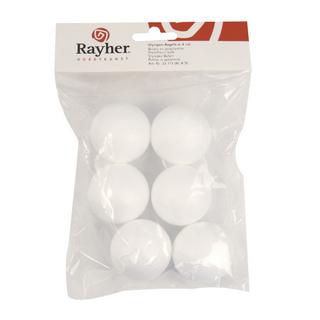 Boule en polystyrene 4 cm, sct,-LS 6 pces