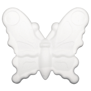 Papillon en polystyrene 12,5 cm, plat