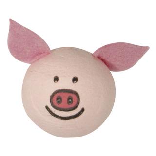 Tete en ouate: Cochon avec oreilles 30 mm sc,3 pièces ø 30 mm. sct.-LS 3 pces