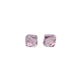 Perles cristal Swarovski toupie 4 mm ø.  violet