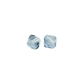 Perles cristal Swarovski toupie 4 mm ø.  aigue-marine