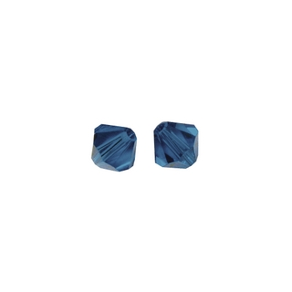 Perles cristal Swarovski toupie 6 mm ø.  bleu nuit