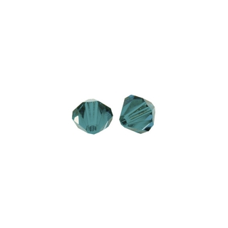 Perles cristal Swarovski toupie 6 mm ø.  turquoise d`Inde