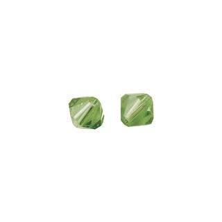 Perles cristal Swarovski toupie 6 mm ø.  jade