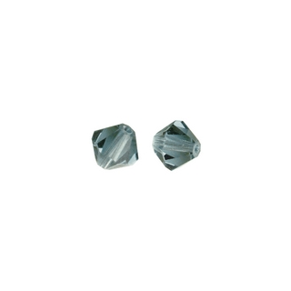 Perles cristal Swarovski toupie 6 mm ø.  topaze fumee