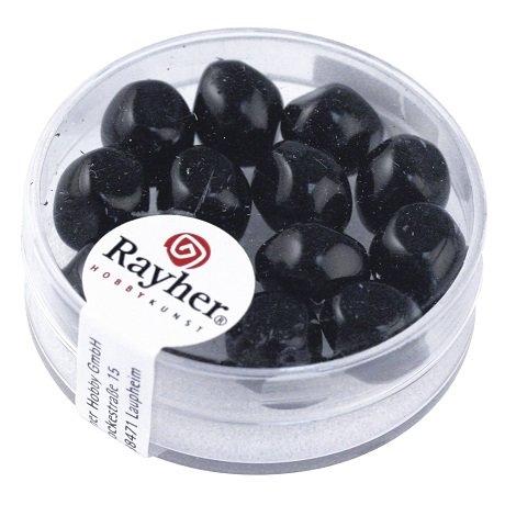 Perle Renaissance 9 mm ø. boîte 13 pces noir