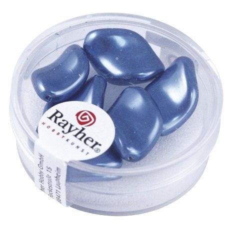 Chips Renaissance 19x13 mm. boîte 6 pces bleu azur