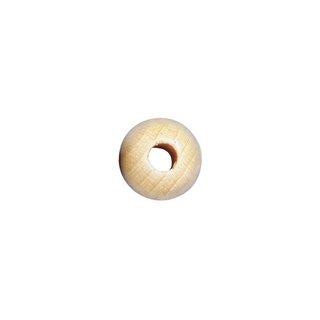 Perles en bois, polies, 20 mm ø nature