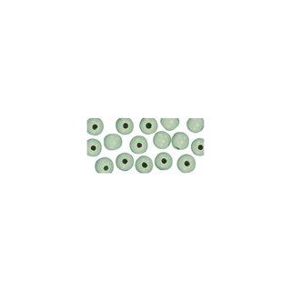 Perles en bois, polies, 4 mm ø, rondes vert clair