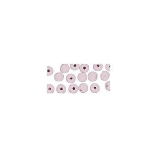 Perles en bois, polies, 4 mm ø, rondes rose