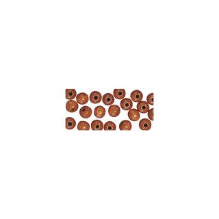 Perles en bois, polies, 6 mm ø, rondes brun moyen