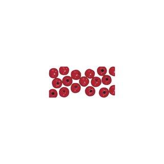 Perles en bois, polies, 6 mm ø, rondes rouge