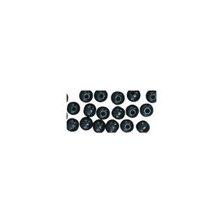 Perles en bois, polies, 8 mm ø, rondes noir