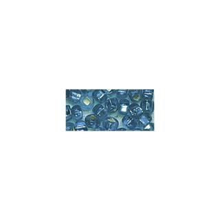 Rocailles. 2 mm ø. avec garniture argent turquoise