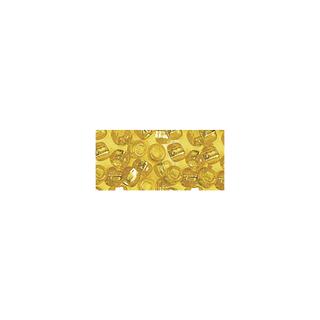 Rocailles. 2 mm ø. avec garniture argent jaune