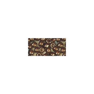 Rocailles. 2 mm ø. avec garniture argent cuivre