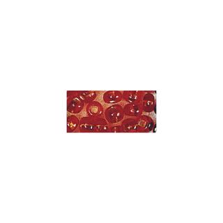 Rocailles. 2 mm ø. avec garniture argent orange