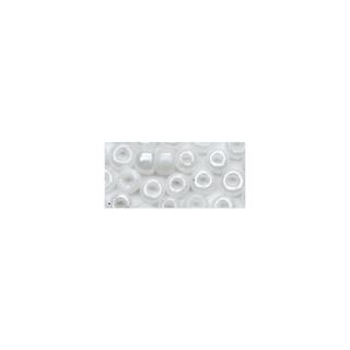 Rocailles. 2 mm ø. opaques lustre blanc