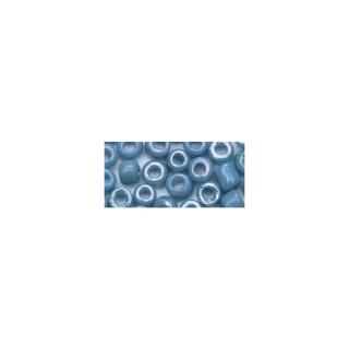 Rocailles. 2 mm ø. opaques lustre bleu clair