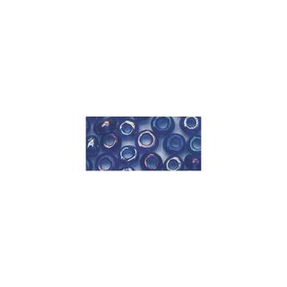 Rocailles. 2 mm ø. transparentes lustre bleu fonce