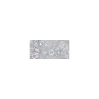 Rocailles. 2 mm ø. transparentes lustre argent