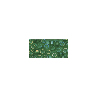 Rocailles. 2 mm ø. transparentes lustre vert