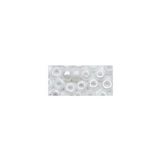 Rocailles. 2.6 mm ø. opaques lustre blanc