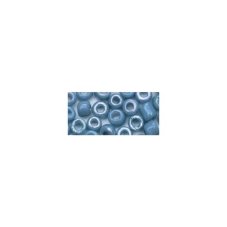 Rocailles. 2.6 mm ø. opaques lustre bleu clair