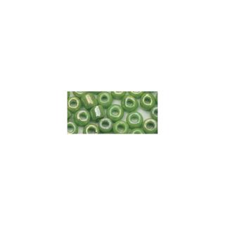 Rocailles. 2.6 mm ø. opaques lustre vert clair
