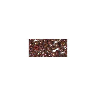 Rocailles. 2.6 mm ø. opaques lustre rouge vin