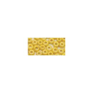 Rocailles. 2.6 mm ø. opaques lustre jaune