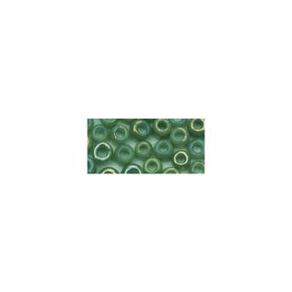 Rocailles. 2.6 mm ø. opaques lustre vert