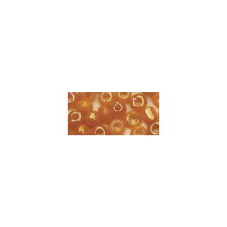 Rocailles. 2.6 mm ø. opaques lustre orange