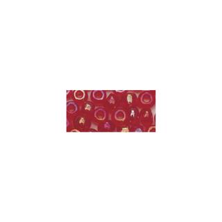 Rocailles. 2.6mm ø. transparentes lustre rouge