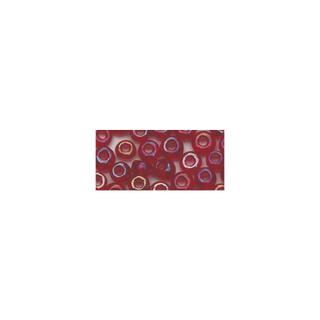 Rocailles. 2.6mm ø. transparentes lustre rouge vin
